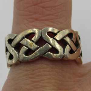 Vintage Size 6.5 Sterling Rustic Heavy Celtic Ring